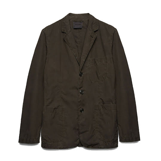 Aspesi Poly Samuraki Coat Military Green
