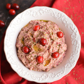 Cranberry Hummus {GF, Low Cal, Vegan} Recipe