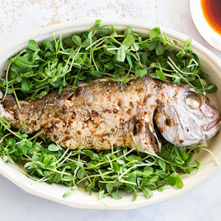 Soy Sauce Glazed Whole Steamed Fish