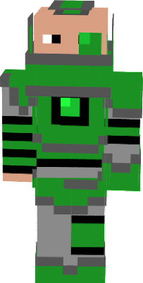 A partially broken edition of the green armor set!