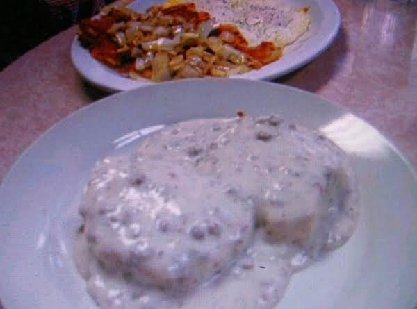 Grandmas Country Sausage Gravy N Biscuits  By Freda Recipe