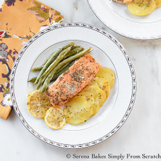 Easy Salmon Potatoes and Green Beans In Parchment