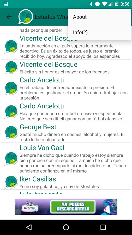 Estados WhatsApp- screenshot