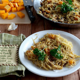 Dairy-Free Spaghetti Squash Carbonara with Butternut Squash.