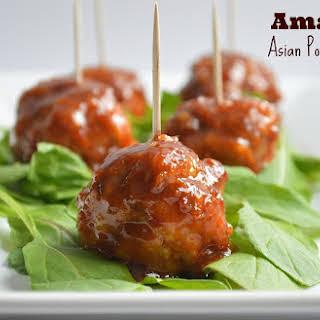 Amazing Asian Pork Meatballs.