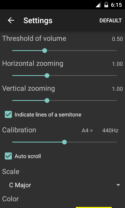 Vocal Pitch Monitor- screenshot