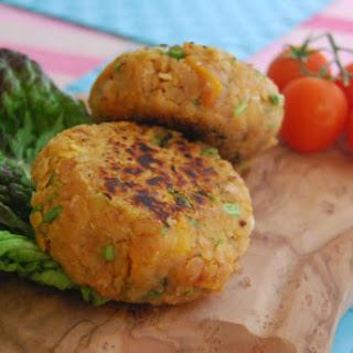 Red Lentil and Butternut Squash Burgers [Vegan, Gluten-Free].