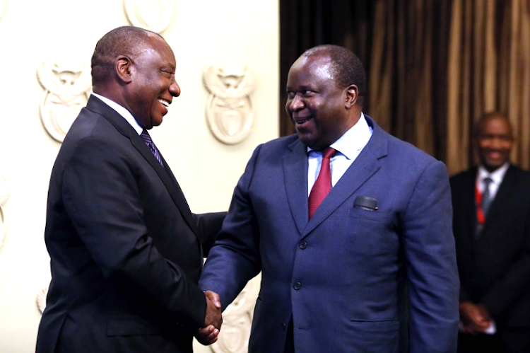 President Cyril Ramaphosa and new finance minister Tito Mboweni on October 9 2018. Picture: ESA ALEXANDER