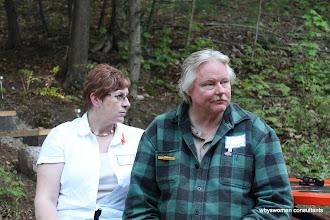 Photo: Nancy and Scott (he looks a bit befuddled here...)
