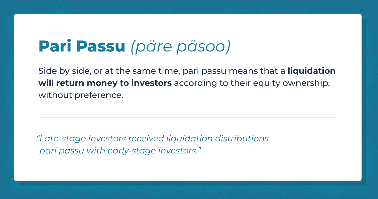 pari passu defined with example