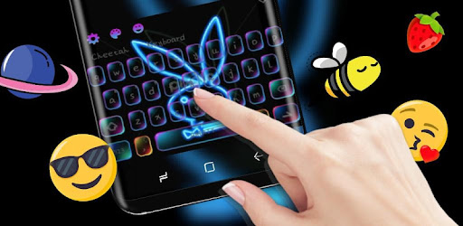 Neon Rabbit keyboard app (apk) free download for Android/PC/Windows screenshot