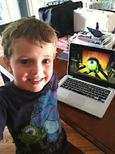 """Photo: This little boy is seriously pumped for our """"Monster Shopping Trip"""" and craft!!"""