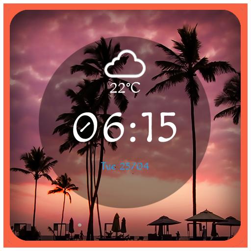 Coastal sunset theme