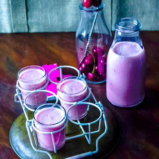 Cherry Sweet Yogurt Lassi.