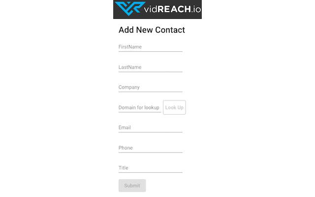 vidReach Contacts