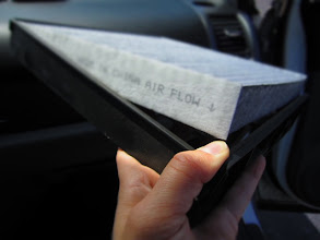 Photo: Ensure that the air flow arrow is pointed the correct way.