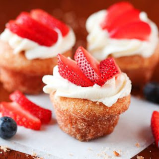 Strawberry Shortcake Doughnut Muffins.