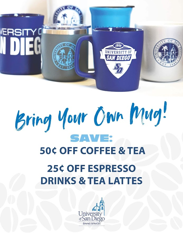 USD Aux Services, Bring your own mug and get a discount!