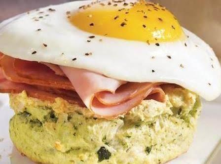Easter Ham & Egg Biscuits
