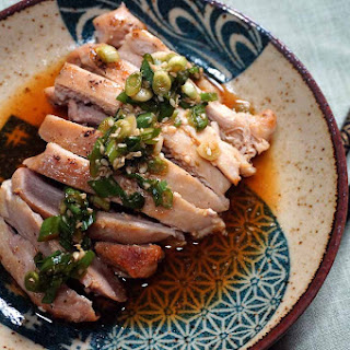 Sake Steamed Chicken with Lemon Sauce