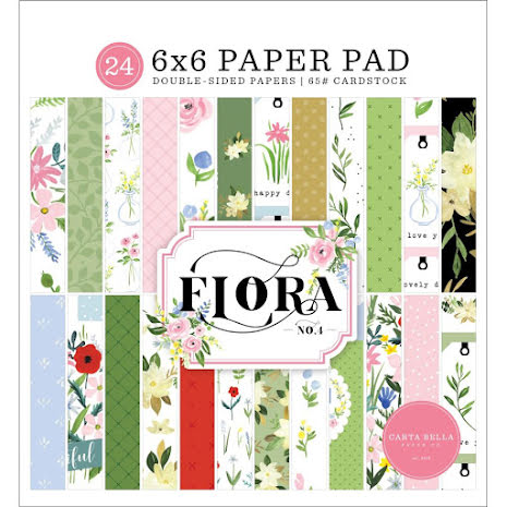 Carta Bella Double-Sided Paper Pad 6X6 - Flora No. 4