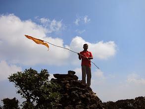 Photo: We made it! Time for Jai Shri Ram flag, Bharath :)