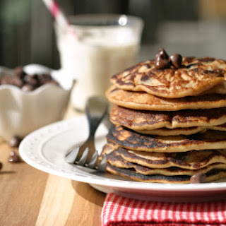 Coconut Chocolate Chip Pancakes.