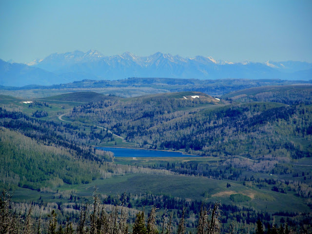 The Wasatch Mountains over Huntington Reservoir