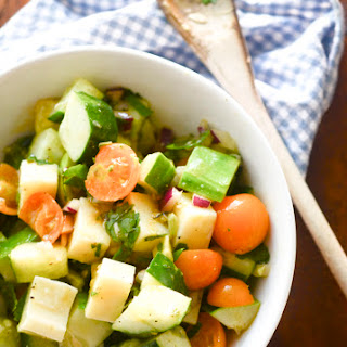 Tomato, Cucumber, and Avocado Salad Recipe