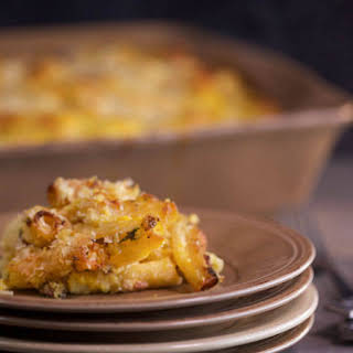 Baked Pasta with Butternut Squash, Sausage & Ricotta.