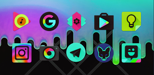 Black Light Icon Pack app for Android screenshot