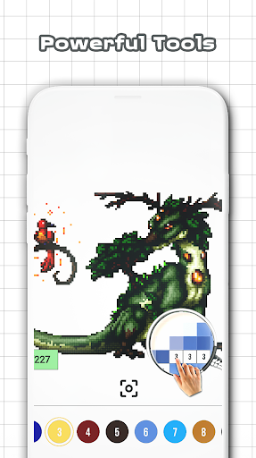 Dragons Color Pixel by Numbers Sandbox Pixel Apk Android