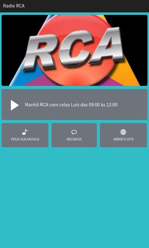 Rádio RCA- screenshot