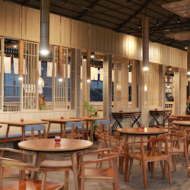 A New Restaurant at Malang, Onsen. by Mardi Tri Junaedi - Buildings & Architecture Other Interior ( #malang, #goodview, #indonesia, #goodresto, #holiday, #japanesse )