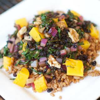 Warm Festive Farro Salad.