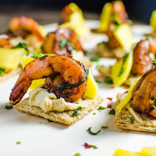 Mango and Grilled Shrimp Appetizers.