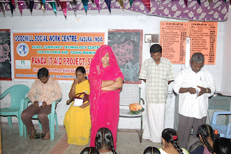 Photo: A moment of prayer at our Rural Community Technology Centre