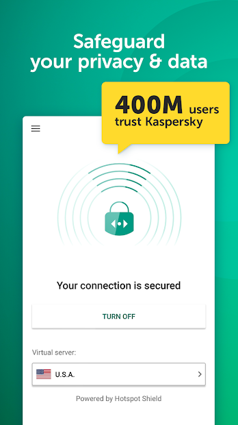 Fast VPN & Proxy – Kaspersky Secure Connection Android App Screenshot