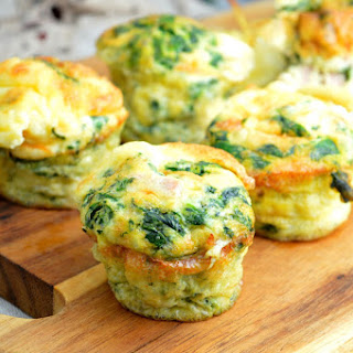 Breakfast Cups with Scrambled Eggs.