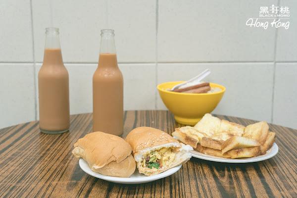 香港 瑞記咖啡・走進熟食中心找美味蛋牛飽和樽仔奶茶
