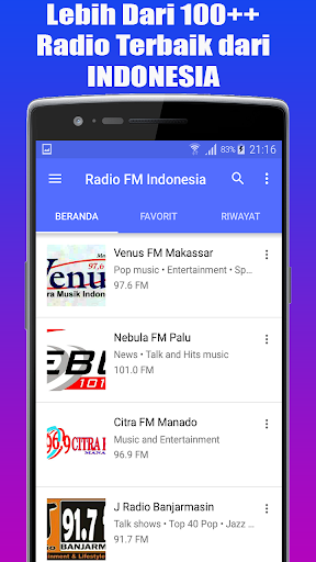 Radio Favorit FM - AM Stereo Indonesia 1.1.1 std-slm-test screenshots 3