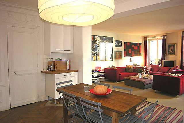 Full kitchen at 3 bedroom Apartment Rue Du Cherche Midi, St Germain