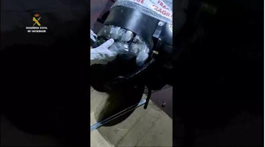 Envía a Alemania ocho kilos de marihuana por paquetería en un compresor de aire