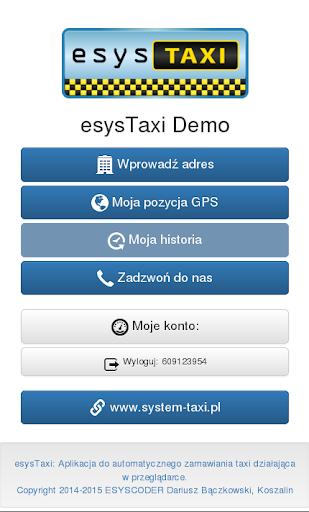 esysTaxi Demo: ztaxi.pl