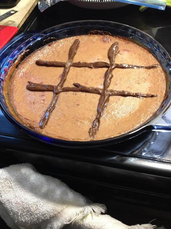 I Was In A Hurry..and Didn't Make Enough Chocolate To Drizzle Over The Whole Pie..