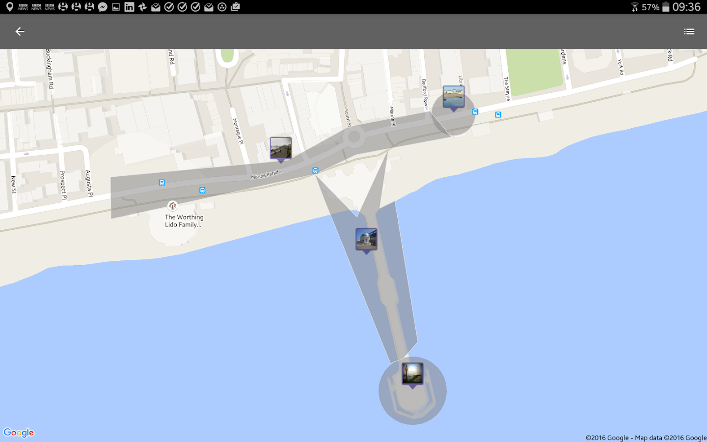 ECHOES: interactive GPS-triggered sound walks- screenshot