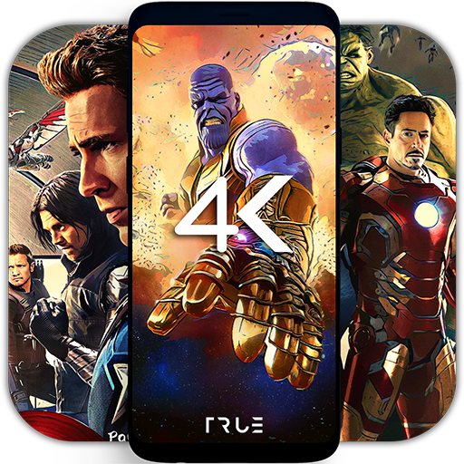 4K Superheroes Wallpapers - Live Wallpaper Changer Icon