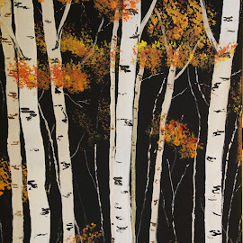 Birch Woods by Robin Smith - Painting All Painting ( nature, trees, landscape )