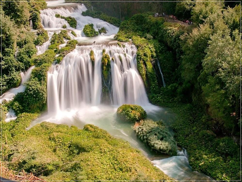 Cascata delle Marmore, a cascata feita pelo homem