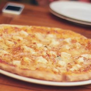 Easy Alfredo Chicken Pizza.